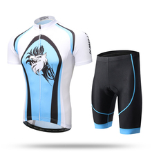 XINTOWN Blue Eagle Men's Short Sleeves Cycling Jerseys Blue Eagle Jacket Shirts Clothes Summer Cycling T Shirt Shorts Set