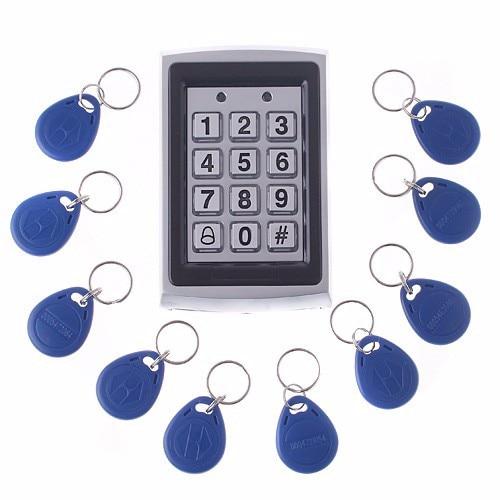 125KHZ  EM card Metal Outdoor  Keypad Access Control system Door Locks 1000 user capacity with RFID 125KHZ card<br>