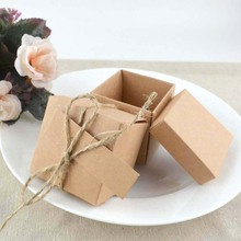 Wedding Gift Boxes 50pcs New Style Brown Kraft Shape Wedding Favor Gift Box ,Party Candy Box Wholesales Festive Party Supplies