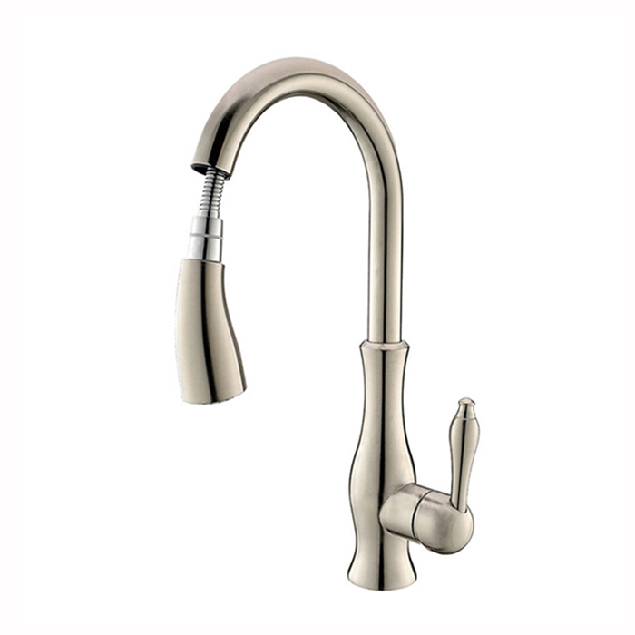 GOLD PULL OUT KITCHEN FAUCET (9)