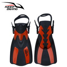 KEEP DIVING Snorkeling Foot Flipper Shoes Long Fins Swimming Equipment Swimming Fins Diving Flippers Webbed Training Pool