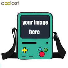 Custom Your Game Bags Anime Fnaf / Pokemon Mini Messenger Bag Game Over Cartoon Cross Bag Boys Girls Shoulder Bags Kids BookBag