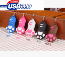 @High quality  Cartoon  tiger Paw USB 3.0 Flash Memory Stick Pen Drive  4GB 8GB 16GB 32GB 64GB Creative Pendrives 3EE3