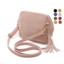 Fringe Crossbody Bag Women Suede Clutch Bag Girl Fashion Messenger Shoulder Handbags Ladies Beach Holiday Tassel Bags 10 colors(China)