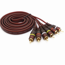 DVD TV 3RCA Audio video Cable  Male to 3 RCA Male Composite Audio Video AV Cable Plug & Wholesale 1.5M - 20M Yellow/Red/White