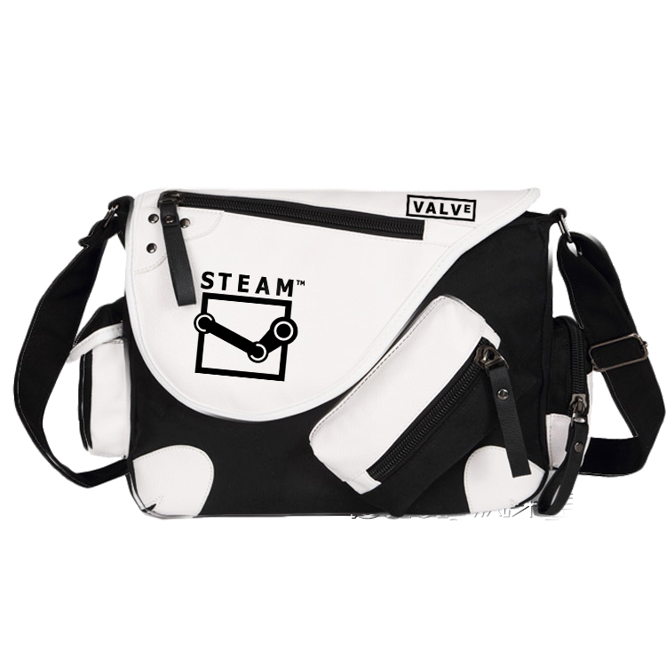 Steam Valve Dead by Daylight Canvas Casual Zipper Boys Girls Shoulder Bag Crossbody Bags Schoolbags Messenger Bag<br>