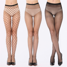 Elastic Sexy Fishnet Stockings Mesh Pantyhose Female Mesh Black Tights Thigh High Stocking Long Stockings Over the Knee Socks