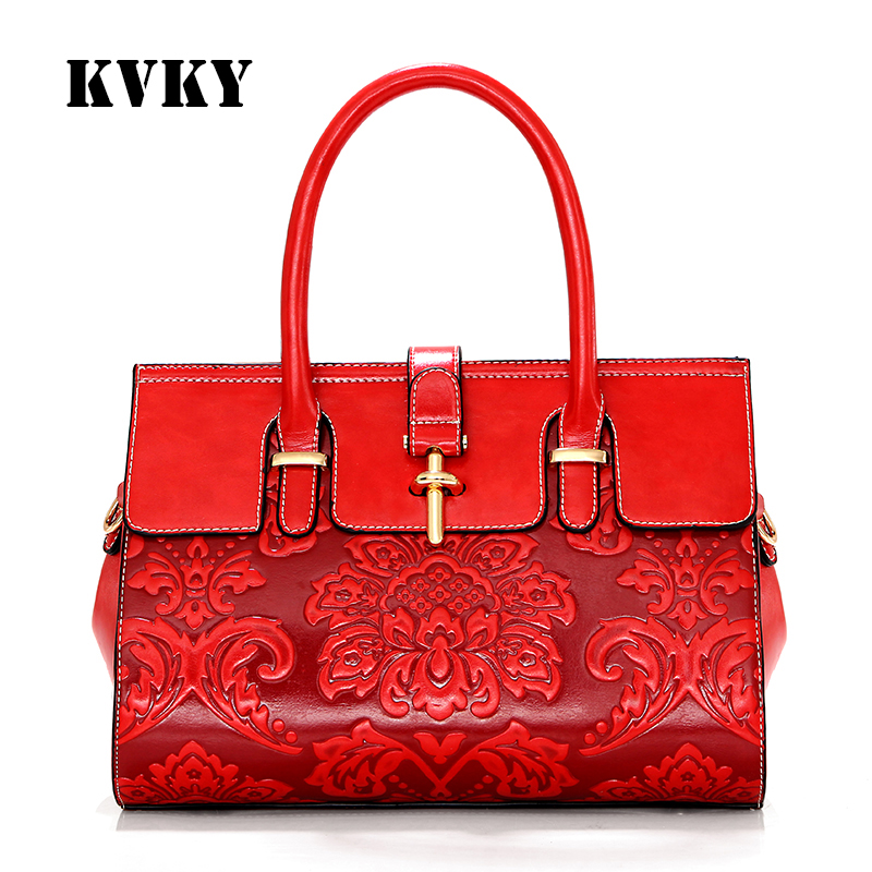 Sky fantasy Chinese style hot red embossed PU cross-body casual youth women shoulder bag vouge girls handbag popular fresh tote<br>