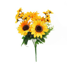 Simulation Sunflower Artificial Flowers Home Furnishing Decorations For Wedding Decorative For Shooting Props