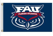 Florida Atlantic Owls Flag 3ft x 5ft Polyester NCAA Banner Florida Atlantic Owls Flying Size No.4 150* 90cm(China)