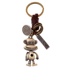 Charm Copper Alloy Big Mouth Monkey Key Chain Ring Holder Women Men Punk Vintage Car Keyring Novelty Jewelry Bag Pendant FY029