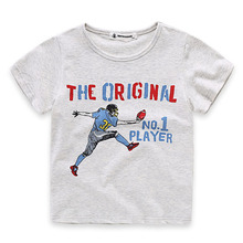 2017 Kids Boys Baseball T-Shirt Summer Boys Short Sleeve Fashion Printed Cotton T Shirts Children's Clothing Kids Tee Baby Tops