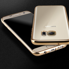 Luxury Plating Gilded TPU Silicone Case Cover For Samsung Galaxy A3 A5 A7 J1 J3 J5 J7 2016 2015 2017 S3 S4 S5 S6 S7 Edge S8 Plus