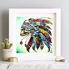 Headdress Native American Indian Canvas Art Print Painting Poster Wall Pictures For Room Home Decorative Bedroom Decor No Frame