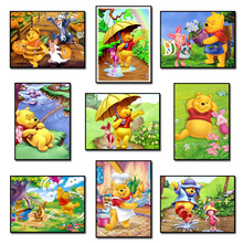 Winnie Pooh and Friends  5D Diamond Mosaic Diamond Painting Cross Stitch Kit Diamonds Embroidery Square Drill Home Decoration