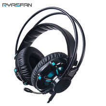 Noise Isolating Cancelling Surround Sound LED Handsfree Over-ear Gaming Headset with Mic,Sound card for PC,PS4 PS3 Amazon Hot