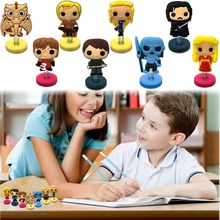 1piece Power Games Cartoon Figures Blue GoldMini PVC Standing Dolls Home/Car Toys Ornament Kid Gift Party&Holiday DIY Decoration(China)