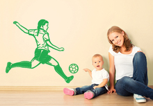 Fake Window Football players Playing soccer Wall Stickers For Kids Room Boys Girls PVC Home Decor Wall Classical Decals(China)