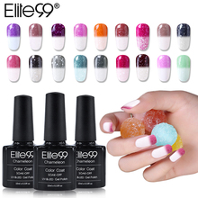 Elite99 10ml Snowy Thermal Chameleon Gel Temperature Change Color Gel Polish DIY Nail Art Mood Color Changing UV Gel Varnish