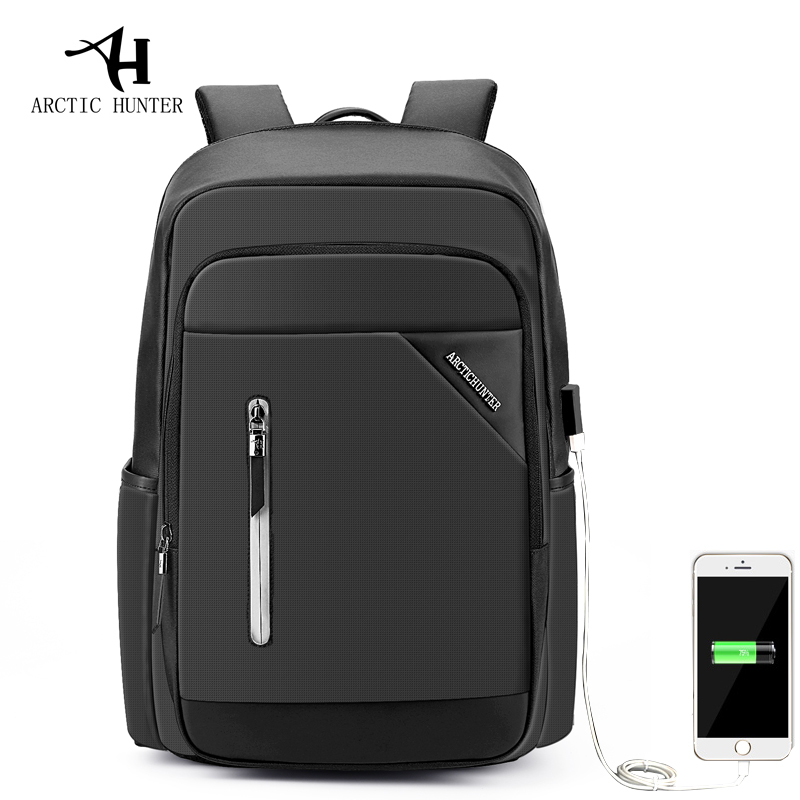 ARCTIC HUNTER Men 15.6inch Laptop Backpack External USB Charge Business Leisure Backpacks Fashion Male Mochila Oxford School Bag<br>