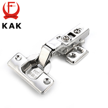 KAK C Series Hinge Stainless Steel Door Hydraulic Hinges Damper Buffer Soft Close For Cabinet Cupboard Furniture Hardware(China)