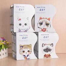 Cute Cat dormitory desktop storage bookshelf artifact creative articles organising shelf Creative telescopic small bookshelf L35(China)