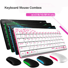 8000 1000DPI Waterproof X220 2.4G Multi-Media Mini Wireless Keyboard and Mouse Combo for PC Mac Laptops Desktops gamer office(China)