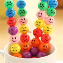 2 Pcs 7 Colors Cute Stacker Swap Smile Face Crayons Children Drawing Gift 2 pcs/set john