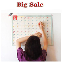 2016 100 Day Countdown Calendar Table Learning Plan To Fight The 100 Day Target Table  Wall Stickers For Kids Rooms