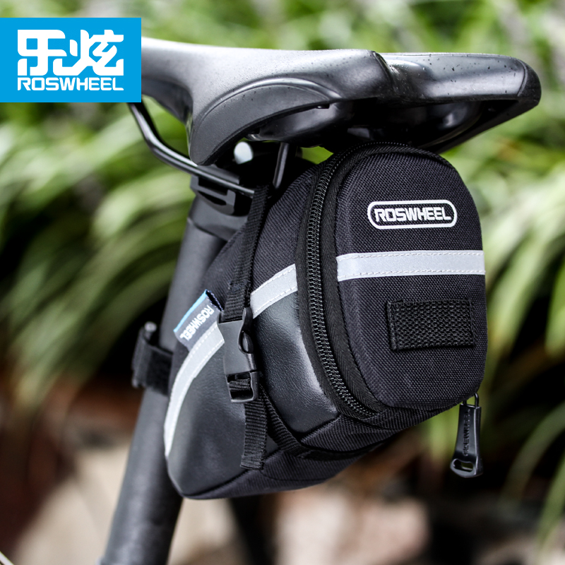 ROSWHEEL Bike Saddle Bag Waterproof Bicycle Bag Rear Seat Pouch Quakeproof Mountain Cycling Saddle Seatpost Tail Pouch Package
