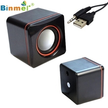 Beautiful Gift 100% Brand New 1 Pair of Mini Portable USB Square Style Computer Laptop Audio Sounder Speaker Free Shipping Dec09
