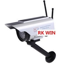 Top Sell Solar Power Fake Dummy Outdoor Security Home CCTV Camera Flashing LED light(China)