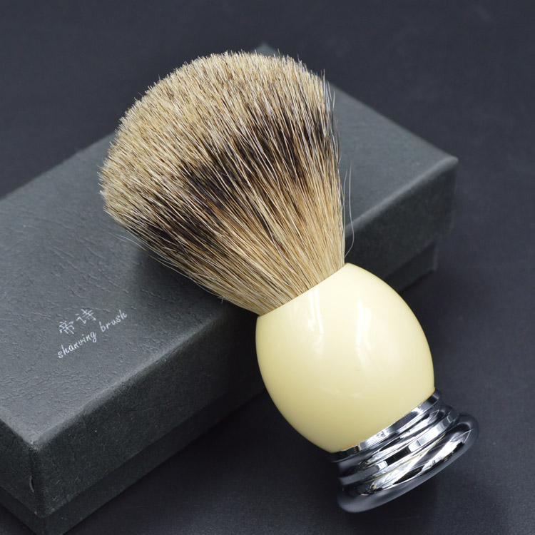 super badger shaving brush hight quality hand-made with resin handle metal base mens grooming kit<br>