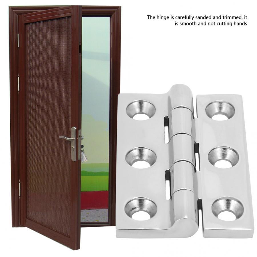 2Pcs//Set 6 Holes M6 Ball Bearing Butt Hinge Home Door Hardware Accessories