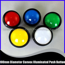 10 pcs/lot 100mm Diameter Convex illuminated Push Button For Arcade Game Machine - Game Machine Accessory / Arcade Push Button(China)