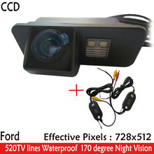 Wireless Car Rearview camera Parking Camera Color Night Version170 Reverse HD CCD Camera for Ford Mondeo Fiesta Focus S-Max KUGA(China)