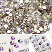 AAAAA SS3 1440pcs/bag Flat Back Nail Art crystal ab Glue On Non Hotfix rhinestones for nails diy nail accessori decorations(China)
