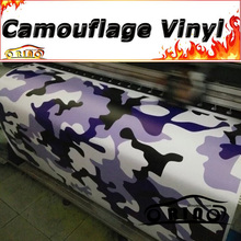 Purple Black Snow Camouflage Wrap Vinyl Sticker Decal Film Motorcycle Truck Car Body Wrapping Matte/Glossy Finish Air Release