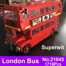 2017 Lepin 21045 171Genuine Technic Series London Bus Model Blocks Building Bricks 10258 Children Educational Toys - Moting Toy Park Store store