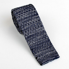 Men's Classic Skinny Knitted Tie Casual Necktie Flat Head Polyester Yarn Knit Business Cravat Corbata Bridegroom Neck Ties Mens