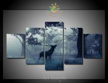 5 Pieces/set Limited Edition deer Modern Decorative Movie Wall Art Room Decor Print Poster Picture Canvas Painting on the wall(China)