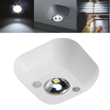 Popular New Mini Wireless Infrared Motion Sensor Ceiling Night Light Battery Powered Porch Lamp(China)