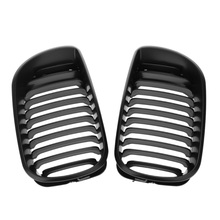 Good Selling Matt Black Front Kidney Grill Grilles for BMW E46 02-05 4 door 4D 3 Series(China)