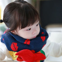 New HOT Unisex Scarf Kids Fashion Cotton Head Set Ring Winter Warm For Children Cute Scarf
