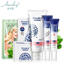 New Ancolcy Face Care Acne Treatment Shrinking Pores Remove Blackhead Cleaner Moisturizing Korean 6 Pcs A Set For Unisex Daily