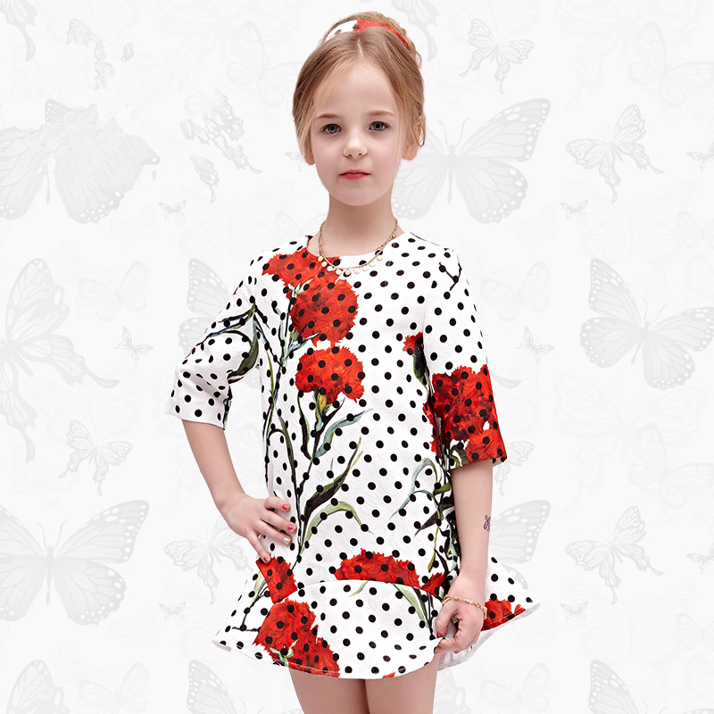 Girls Dress with Handmade Dragonfly 2017 Brand Princess Dress Long Sleeve Robe Fille Clothes Kids Dresses 31<br>