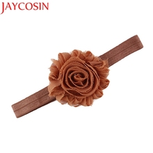 Hair Accesories Soft Girls Headbands Flower Headband For Kids party birthday Hair Band 8 Colors To Choose drop Shipping H20(China)