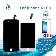 Hot Sale AAA 100% Brand New Top Quality For iPhone 6 LCD Replacement Display Touch Screen Digitizer Assembly OEM black white