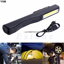 2in1 Rechargeable COB LED Camping Work Inspection Light Lamp Hand Torch Magnetic Tent Larntern(China)