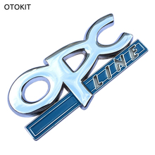 OTOKIT 3D Metal OPC LINE Emblem Car Side Tail Badge Sticker for OPEL Zafira b Corsa d Insignia Mokka Regal Astra g h Vectra c